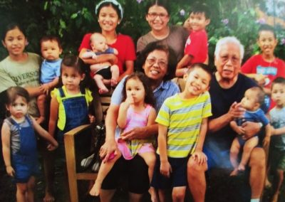 Perlita and Jose with 13 of 15 grandchildren!