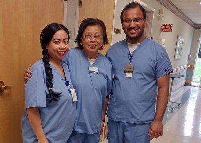 Perlita with Rhodora Vidad, LPN and Dhaval Soni, RN