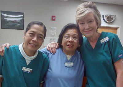 Miriam, Perlita, and Denise. What a team!