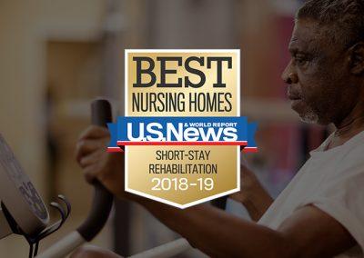 US News Best Nursing Homes Award 2018-19